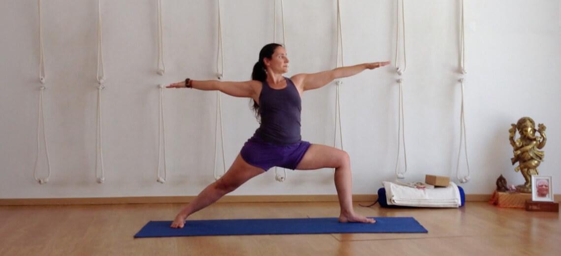 Nesta aula de Iyengar Yoga o foco principal prende-se com as posturas de pé. É através das posturas de pé que começamos a aprender esta Arte. As posturas de pé dão acesso à coluna vertebral, trazem energia, vigor, consciência e objectividade.